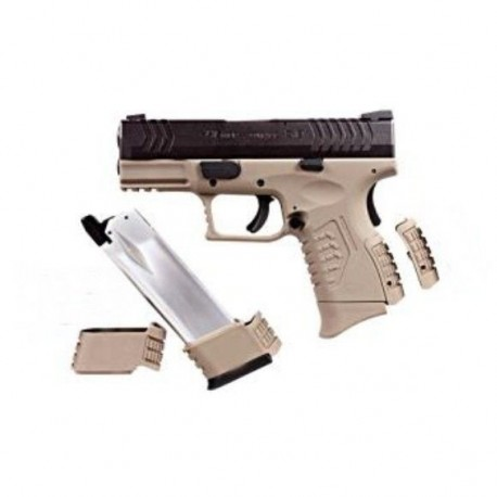Pistola ULTRA COMPACT 3.8 TAN BLACK GBB WE