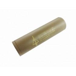 Silenciador Delta corto 110 mm. Tan