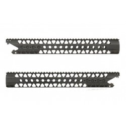 Guardamanos Ris de Aluminio 16´2 Pulgadas /Kit de cañones externos Negro