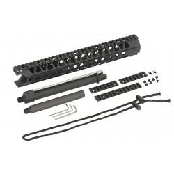 Guardamanos Ris de Aluminio 13´5 Pulgadas /Kit de cañones externos Negro