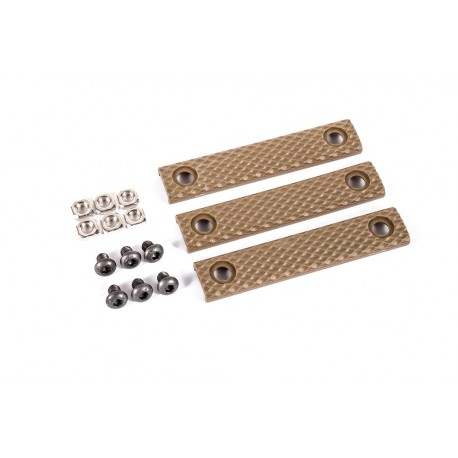 Dytac UXR 3 & 3.1 Thin Line Two-Hole Panel Dark Earth (Pack of 3)