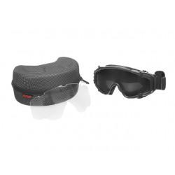 Gafas de protección negra con ventilador