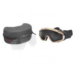 Gafas de protección con ventilador FMA (tan)