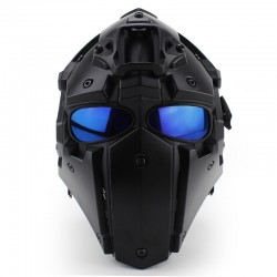 Mascara Obsidian B con lente malla y azul