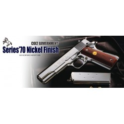 Colt Government Series'70 Nickel Finish Tokyo Marui