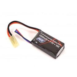 Batería Li-Po 7.4V 1000 mAh 30C Tipo compacto (ASG)
