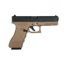 Glock 17 CO2 KJW TAN corredera metálica