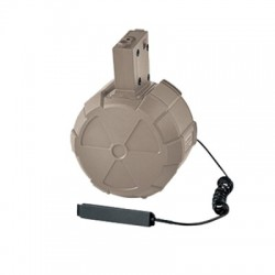 ICS Electric Drum Magazine-TAN (Incl. M4 Magazine Adaptor)