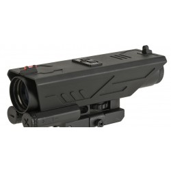 Visor VISM DELTA Illuminated 4x30 Scope with White & Red Navigation Lights - P4 Reticle