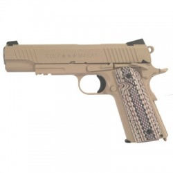 COLT 1911 M45 RAIL GUN CO2 TAN
