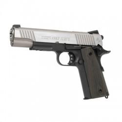 PISTOLA COLT M1911 RAIL GUN CO2 PLATA/MARRON OSCURO