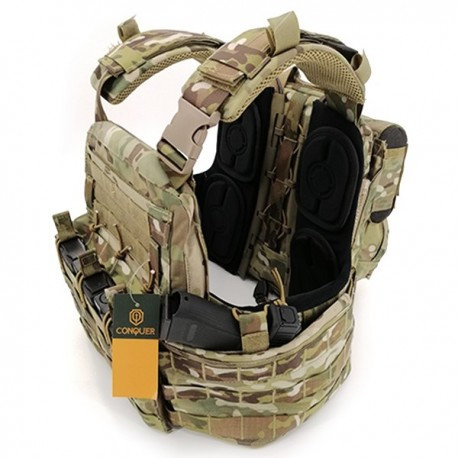 Chaleco Conquer Combat Plate Carrier (APC full set)