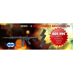 PACK 3 CARGADORES + M4A1 MWS GBB ZET System Tokyo Marui