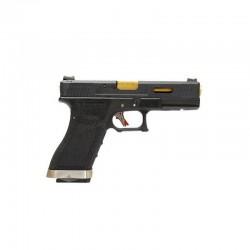 G-Force 17 BK Gold Barrel Metal Version GBB Black (WE)
