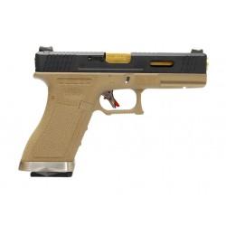 G-Force 17 BK Gold Barrel Metal Version GBB
