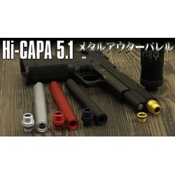 Hi-Capa D.O.R. Fixed Two Way Outer Barrel Black (Laylax)