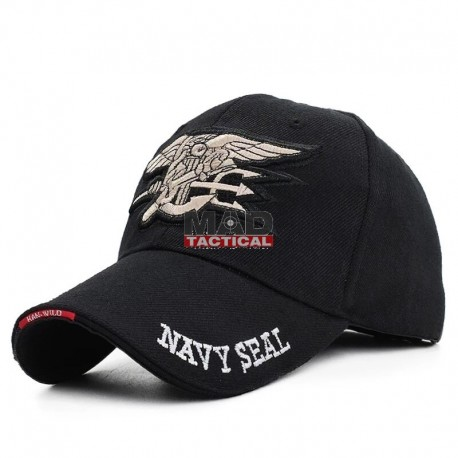 Gorra de béisbol Navy Seal negro